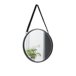 Mirror with Leather Strap