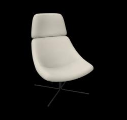Armchair XL Mishell Crossed Legs / Low Back | Beige