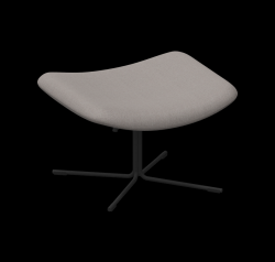Footstool XL Mishell Crossed Leg | Grey