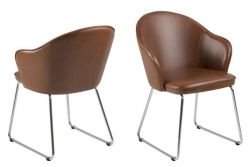 Set of 2 Chairs Mazz | Dark Brown
