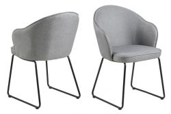 Set of 2 Chairs Mazz | Light Grey