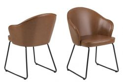 Set of 2 Chairs Mazz | Brown