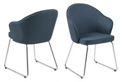 Set of 2 Chairs Mazz | Dark Blue