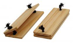 Paar Topflappen für Kasserolle | Holz