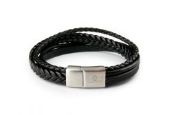 Men Bracelet MM10795 | Black & Silver