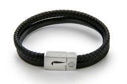 Bracelet Homme | Noir & Argent