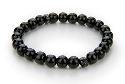 Men Bracelet Onyx 52 mm | Black & Black