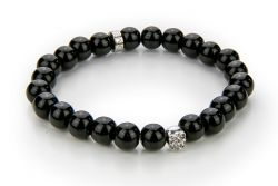 Men Bracelet Onyx 52 mm | Black & Silver