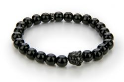 Men Bracelet Onyx 56 mm | Black