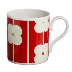 Tasse Fleurs Abaque Rouge