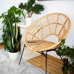Outdoor Rattan Chair Ava | Natural
