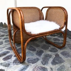 Outdoor-Rattan-Sessel Zorba | Braun