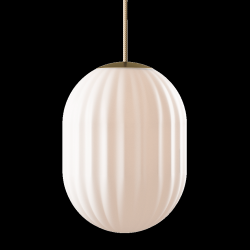 Pendant Lamp Bright Modeco + | Brass & Cream Cord