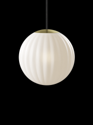 Pendant Lamp Bright Modeco | Brass & Black Cord