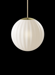 Pendant Lamp Bright Modeco | Brass & Cream Cord