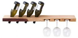 Wine Rack Model B Oak Wood