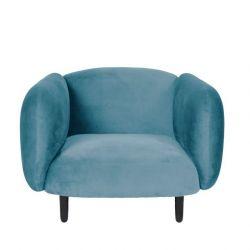 Moïra Velvet Armchair | Sky Blue