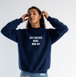 ♀ Sweater Just Another Manic | Bleu