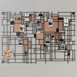 Wanddekoration Weltkarte Mondrian