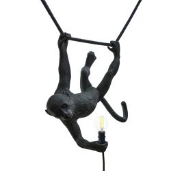 Outdoor Lamp Swinging Monkey | Black
