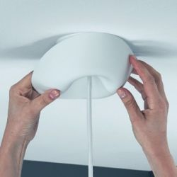 Ceiling Canopy CableCup | White | Multiple Exits