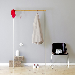 Leaning Rack Leanon II | White / Light Oak