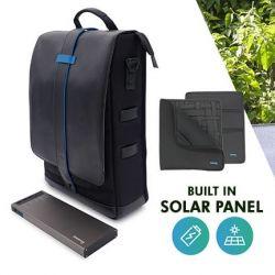 Rucksack Moovy Solar + wiederaufladbare Batterie | 18 L | Schwarz