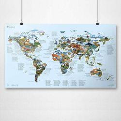 Wiederbeschreibbare Weltkarte | Mountainbike