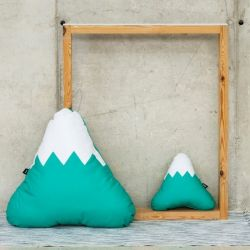 Mountain Cushion | Mint Green