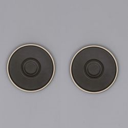 Mocu Saucer Set of 2 | Black
