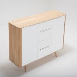 Dressoir Ena 02 | Wit Hardwax Geolied