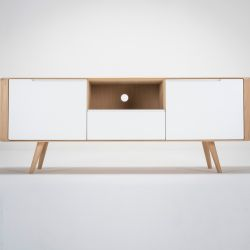 TV Sideboard Ena 2 | White Hardwax Oiled
