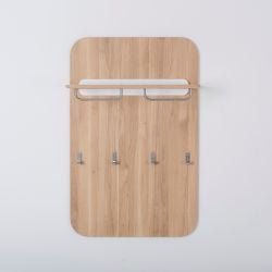 Wall Coat Rack Ena | White Hardwax Oiled