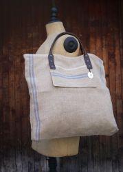 Linen bag Blue