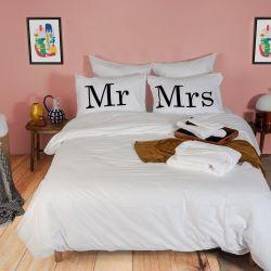 2er-Set Kissenbezüge & Bettbezug | Mr & Mrs