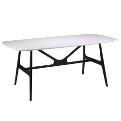 Dining Table Gabby 180x90 cm | Black/White