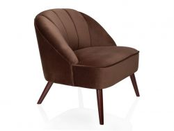 Fauteuil Shell Velours | Tobacco
