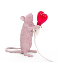 Lamp Mouse Love Edition Standing | Pink