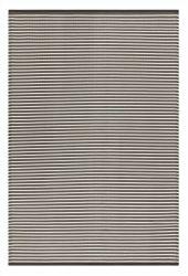 Indoor/Outdoor Plastic Rug Multi Grey Stripes | Grey