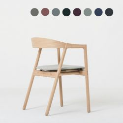 Chair Muna | White Oil / Fabric