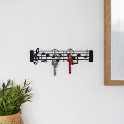 Sleutelhouder Musik | Zwart