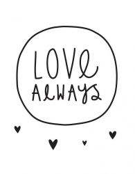 Muursticker | Love always