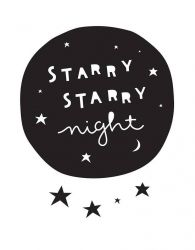 Muursticker | Starry night