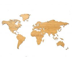 Wooden World Map | Bamboo