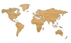 Wooden World Map | Oak