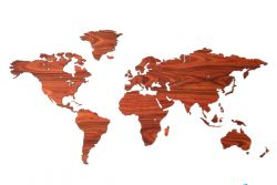 Wooden World Map | Rosewood