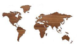 Wooden World Map | Walnut