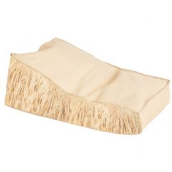 Outdoor lounge Raffia with Fringe | Natural Beige