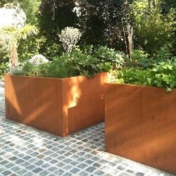 My Cube Corten Steel Planter