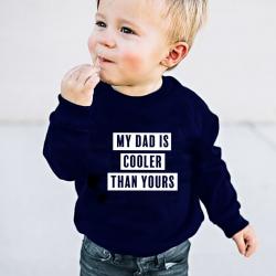 Kinderpullover Mein Vater ist kühler als dein Vater | Blau